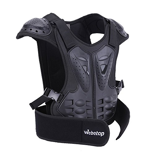 Webetop Kids Dirt Bike Body Chest Spine Protector Armor Vest Protective Gear for Dirtbike Bike M ...