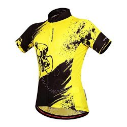 WOSAWE Mens Breathable Cycling Jersey Short Sleeves (Biker Jersey, M)