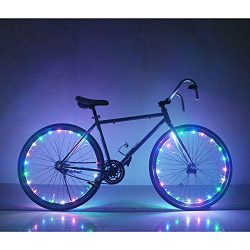 Rechargeable Bicycle Bike Rim Lights – Bicycle Wheel Wire Rim LED Cycling Flash Light &#82 ...