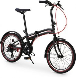 Coghorn Boxer Folding Bike with Compact 7-speed Frame and 20in Wheels (Black)