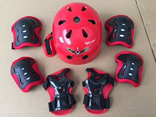 ASIBT Kid's Skateboard Helmet Sets Cycling Roller Skating Helmet Elbow Knee Pads Wrist Spo ...