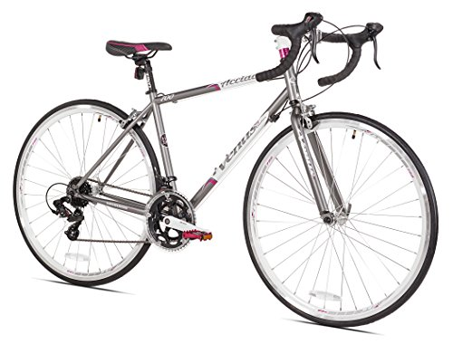 Giordano Acciao Venus Women's Road Bike, 700c, Grey/White/Pink, Small