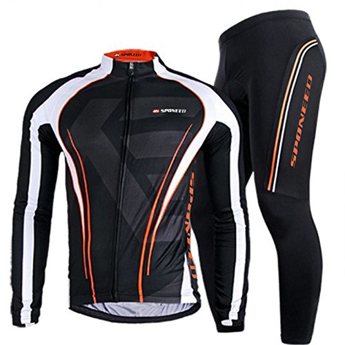 Bicycle Clothing Men,Sponeed Bike Pants Padded Long Sleeve Winter Gear Cycle Jerseys Tights Asia ...