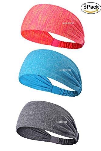 3PACK Women Sports Headband/ Non-slip SweatBand Hairband For Cycling/Running/Walking For Men Gir ...