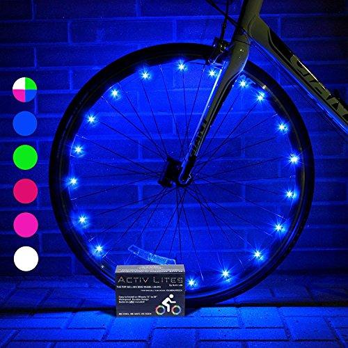 Super Cool Bike Wheel Lights (2 Tires, Blue) Best Christmas Gifts, Stocking Stuffers & Birth ...