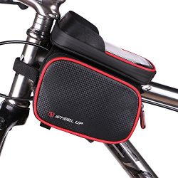 Bike Storage Bag, Waterproof Universal Cycling Bicycle Frame Bags Phone Mount Holder For Iphone  ...