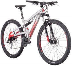 Diamondback Bicycles Recoil 29er Full Suspension Mountain Bike, Light Silver, 16″/Small