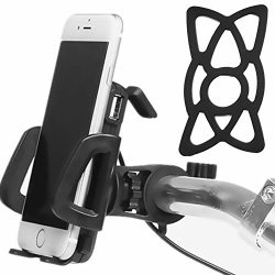 2 in 1 Waterproof 12V to 85V Electric Bike ATV Motorcycle Cell Phone Holder Mount with USB Charg ...