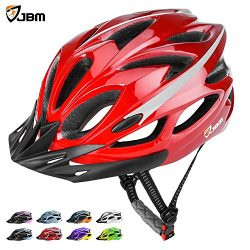 JBM Adult Cycling Bike Helmet Specialized for Mens Womens Safety Protection Red / Blue / Yellow  ...