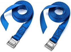 Two Pack of Premium Lashing Straps by Vault – 8 Ft Long – Rated 250 Lbs – Perf ...
