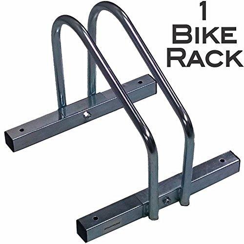 EasyGo Single Bike Wheel Rack – Floor Stationary Garage Bicycle Stand – Heavy Duty S ...