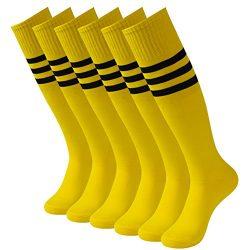 Comfort Football Socks, 3street Unisex Half-Cushioned Sport Team Cushion Socks Over The Calf Soc ...