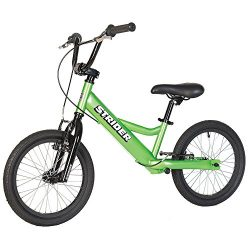Strider – Youth 16 Sport No-Pedal Balance Bike, Ages 6 to 10 Years, Green