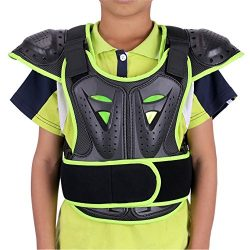 WINGOFFLY Kids Chest Spine Protector Body Armor Vest Protective Gear for Dirt Bike Motocross Sno ...