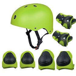 Kids Sports Knees Elbows Wrists Head Support Protection Helmet Set for Unisex Toddler Children E ...