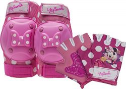 Bell Minnie Mouse Protective Gear with Elbow Pads/Knee Pads & Gloves