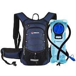 Miracol Hydration Backpack with 2L Water Bladder – Thermal Insulation Pack Keeps Liquid Co ...