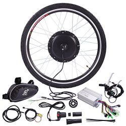 JAXPETY 36V 500W Electric Bicycle Cycle 26″ E Bike Front Wheel Ebike Hub Motor Conversion  ...