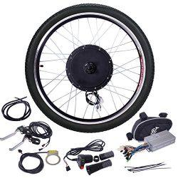 JAXPETY 48V 1000W Electric Bicycle Cycle E Bike 26″ Front Wheel Ebike Hub Motor Conversion ...