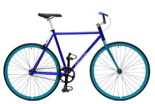 Critical Cycles Fixed Gear Single Speed Fixie Urban Road Bike (Blue/Aqua, Medium)