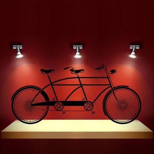 Wall Decal Decor Decals Sticker Art Vnyl Mural Tandem Bike Sport Bicycle Cycle Nursery Bathroom  ...