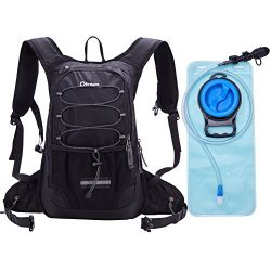 Hydration Pack,2L Hydration Pack Black Insulated Hydration Pack for Men Hiking Hydration Pack Wo ...
