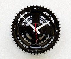 Recycled Bike Gear Clock, bike wall clock, industrial wall clock, modern clock, upcycled bike ge ...