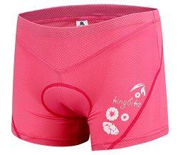 Basecamp Womens Padded Bike Shorts Cycling Pants, 3D Gel Padded Biking Bicycle Cycling Brief Und ...