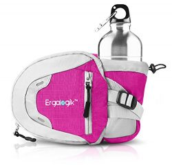 ErgaLogik Day Trekker – Hiking Waist Pack with Water Bottle (Not Included) Holder –  ...