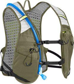 CamelBak Chase Bike Vest 50 oz Hydration Pack, Burnt Olive/Lime Punch