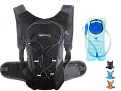 WACOOL 2L Waterproof Hydration Bladder Pack, Cycling Backpack, Lightweight Daypack (Black and 2L ...