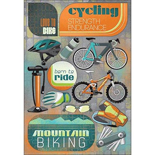 Karen Foster Design Acid and Lignin Free Scrapbooking Sticker Sheet, Love to Bike