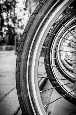 Bike Tires, Bicycle Wheel & Spokes, Art Print, Home, Wall Decor, New York City, Black and Wh ...