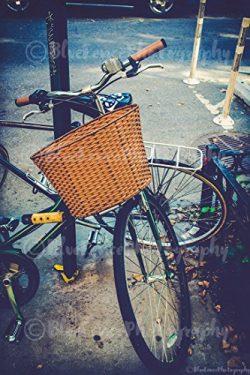 Bike with Basket. Photography. Bicycle & Wheels, Photograph, Art Print, Home, Wall Decor, Ne ...