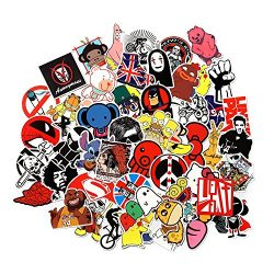 Cool Sticker 100pcs Random Music Film Vinyl Skateboard Guitar Travel Case Sticker Door Laptop Lu ...