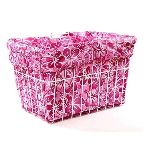 Cruiser Candy Pink Hawaiian Bicycle Basket Liner
