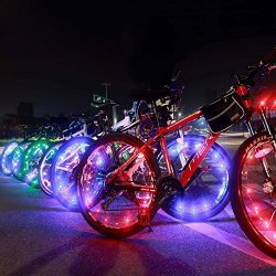 Bright Led Bike Wheel Light – DAWAY A01 Waterproof Bicycle Tire Light Strip, Safety Spoke  ...