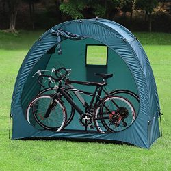YP Outdoor Weatherproof Garage Shed Bicycle Tent Space Saver for Camping,Backyards,Tours – ...