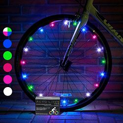 Super Cool LED Bicycle Wheel Lights (1 Tire, Multicolor) Best Xmas Gifts for Kids – Top Ch ...