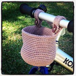 Lovely Gift For Children Crochet Cotton Basket Storage Bin for Child Bikes- Inspiracion