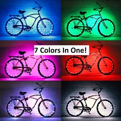 GlowRiders – Ultra Bright LED – Bike Wheel Light String (1 pack) – Assorted Co ...