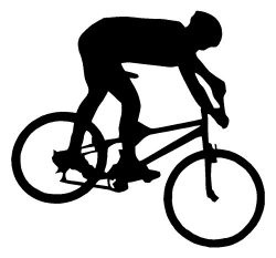 Mountain Bike Biker White Decal Bicycle Window Sticker