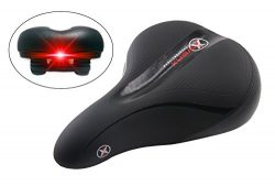 XWERX SX COMFORT LIGHT UP ES EMERALD Most comfortable Bicycle Seat – GEL Foam, Elastomer C ...