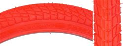 Sunlite Freestyle BMX Kontact Tires, 20″ x 1.95″, Red/Red