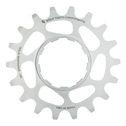 Wolf Tooth Components Single Speed Stainless Steel Cog: 19T, Compatible with