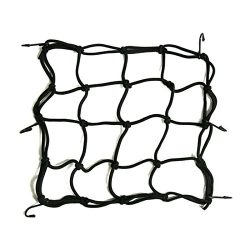 Bocolax(TM) Motorcycle Bike 6 Hooks Hold Down Fuel Tank Luggage Net Mesh Web Bungee Black Helmet ...