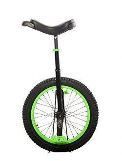 Koxx Fluo 20 Trials Unicycle, Black with Neon Green Rims and Pedals