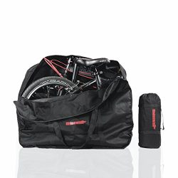 AMOMO Folding Bike Bag 14 inch to 20 inch Bicycle Travel Carrier Case Box Carry Bag Pouch Bike T ...