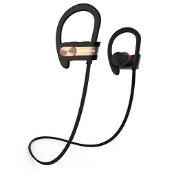 UKINDA Wireless Bluetooth Headphones, Bluetooth 4.1 Sweatproof Sport Earphones In-Ear Noise Canc ...