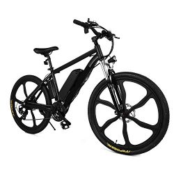Ferty NEW IN 2018 Fast Electric Mountain Bicycle for Adults with Removable Lithium-ion Battery I ...